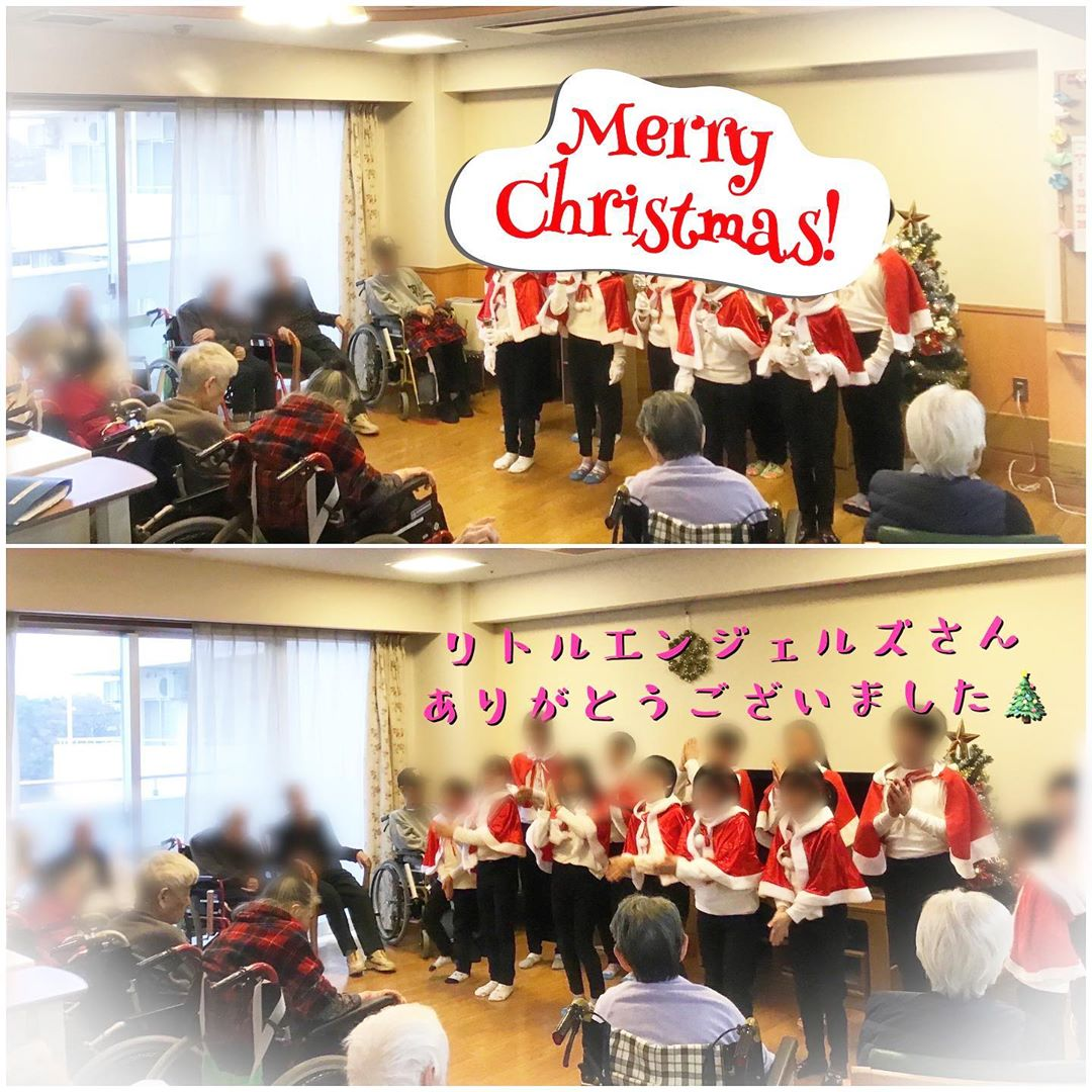 今年もあの方々が来てくれましたヽ(´▽`)/ 12月22日に長田子どもホームのリトルエンジェルズがハンドベル演奏に来てくださいました