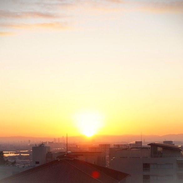 グランドビュー甲南からの初日の出。
